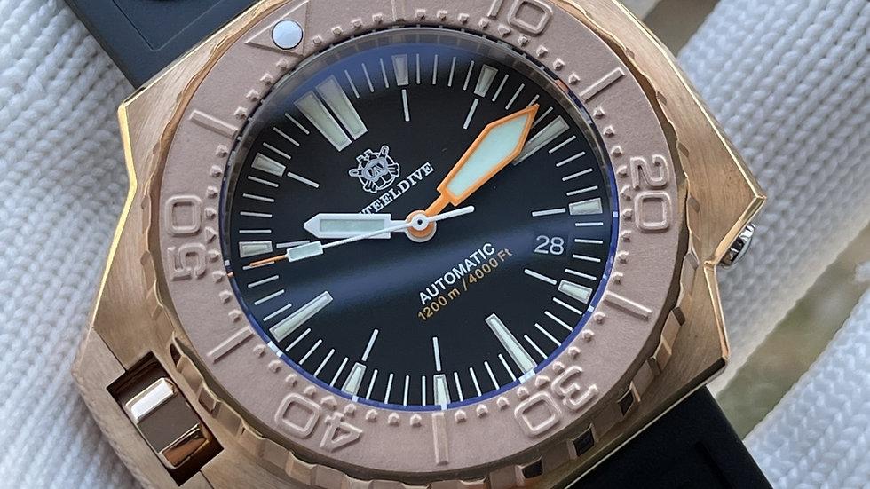 "STEELDIVE SD1969S ""Bronze ProPlof"" Automatic 1200m Diver Watch"