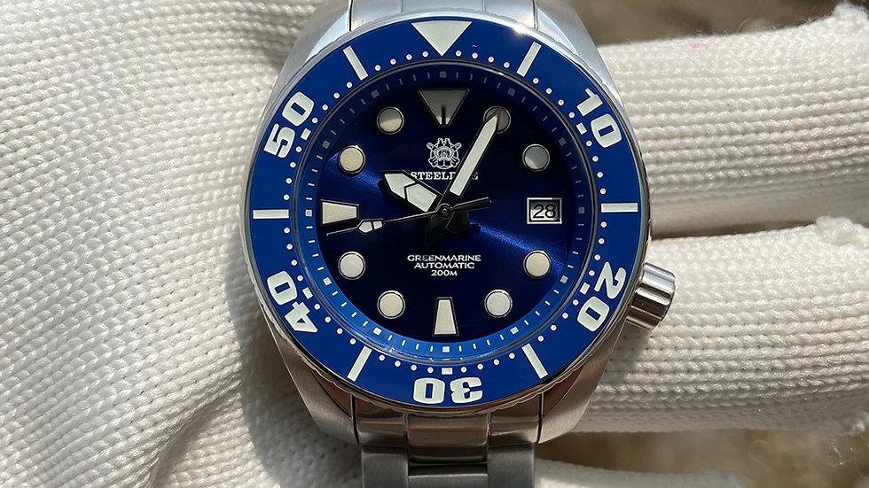"STEELDIVE SD1971 ""Blue Sumo"" Automatic 200m Diver Watch"