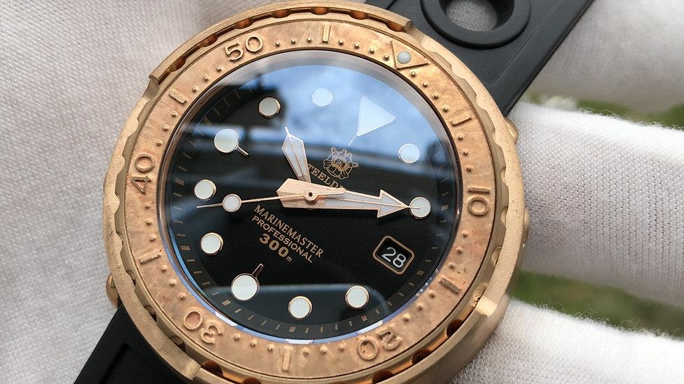 "STEELDIVE SD1975 ""Bronze Tuna"" Automatic 300m Diver Watch"