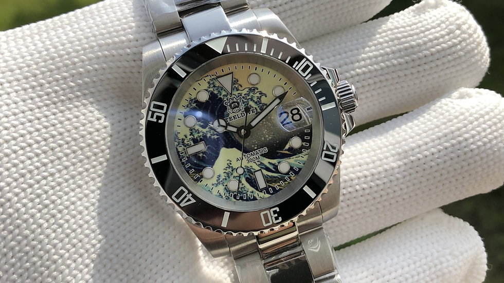 "STEELDIVE SD1953J ""Great Wave Submariner"" Automatic 200m Diver Watch"