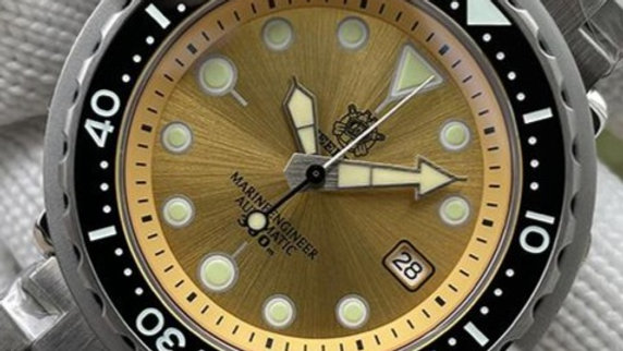 "STEELDIVE SD1975 ""Yellow Tuna"" Automatic 300m Diver Watch"