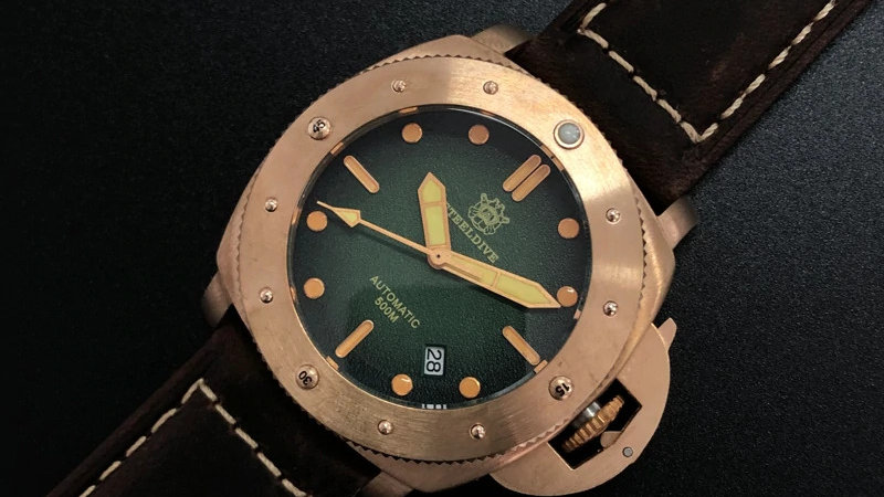 "STEELDIVE SD1956S ""Bronze Lumiinor"" Automatic 500m Diver Watch"