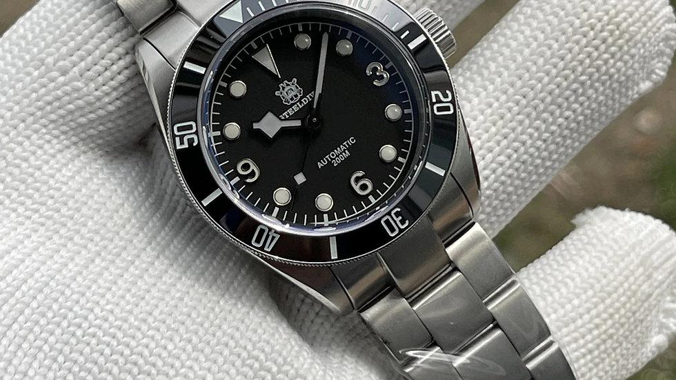 "STEELDIVE SD1958""Tudor Black Bay"" Automatic 200m Diver Watch"