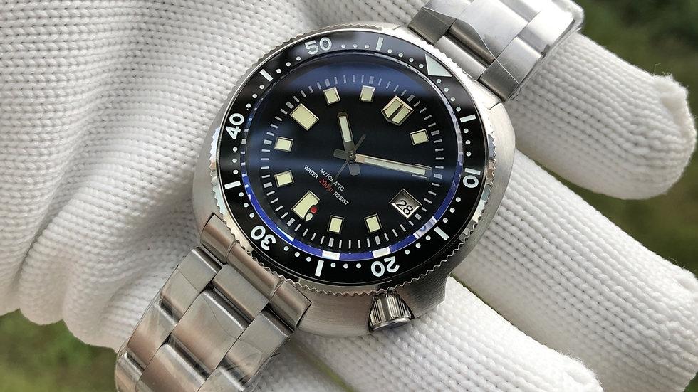 "STEELDIVE SD1970 ""Turtle"" **STERILE/NO LOGO VERSION**Automatic 200m Diver Watch"