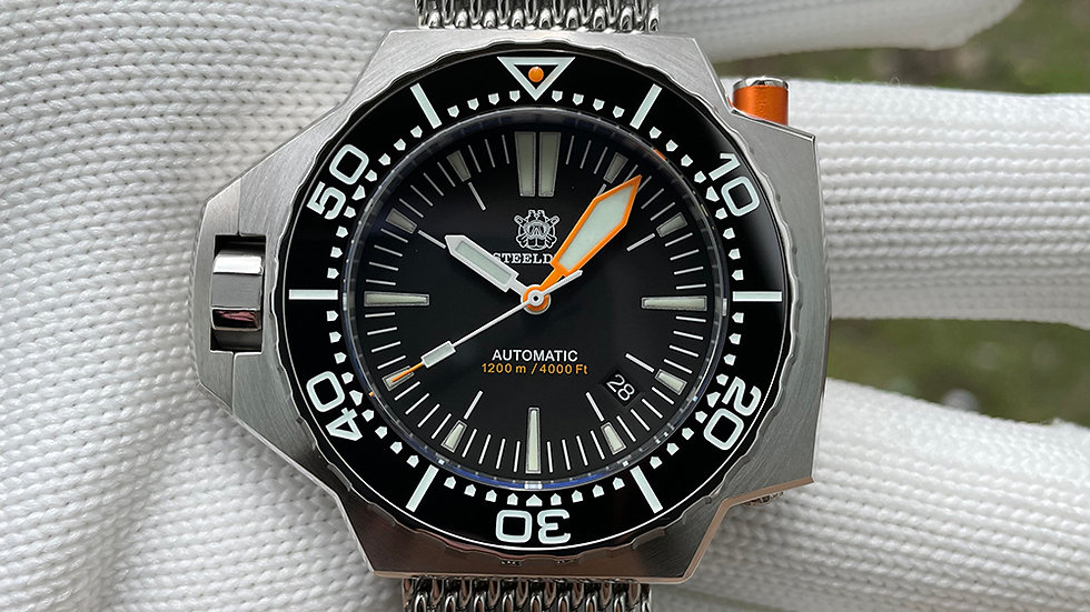 """STEELDIVE SD1969 """"ProPlof V3"""" Automatic 1200m Diver Watch"""