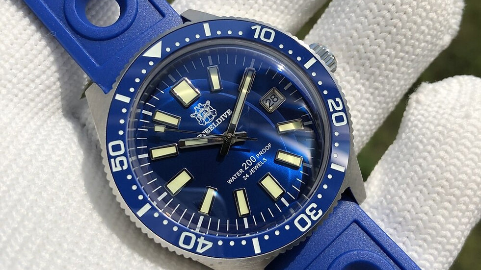 "STEELDIVE SD1962 ""BLUE 62MAS"" Automatic 200m Diver Watch"