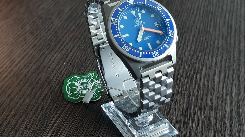 "STEELDIVE SD1979 ""Blue 50 Atmos"" Automatic 200m Diver Watch"
