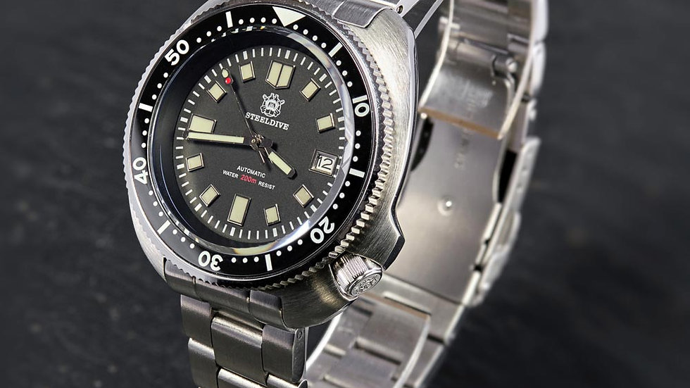 "STEELDIVE SD1970 ""Turtle"" Automatic 200m Diver Watch"