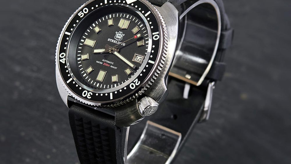 """STEELDIVE SD1970 """"Turtle"""" Automatic 200m Diver Watch"""