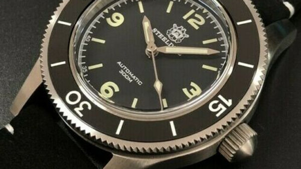 """STEELDIVE SD1952""""Fifty Fathoms"""" Automatic 300m Diver Watch"""