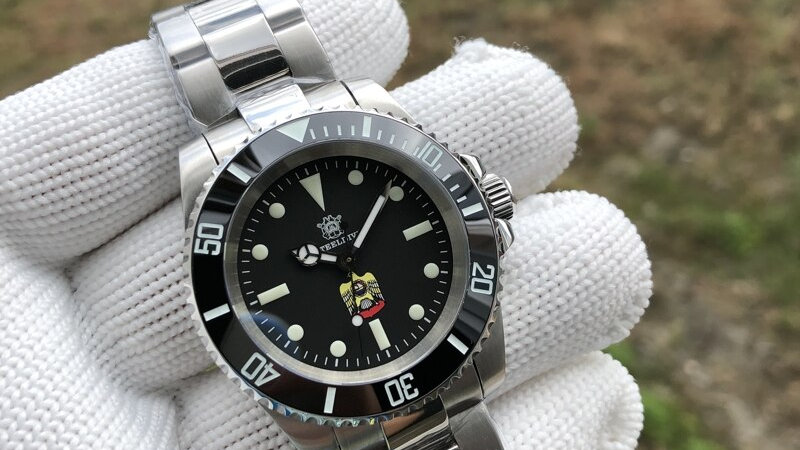 "STEELDIVE SD1954E ""Submariner Eagle"" Automatic 200m Diver Watch"