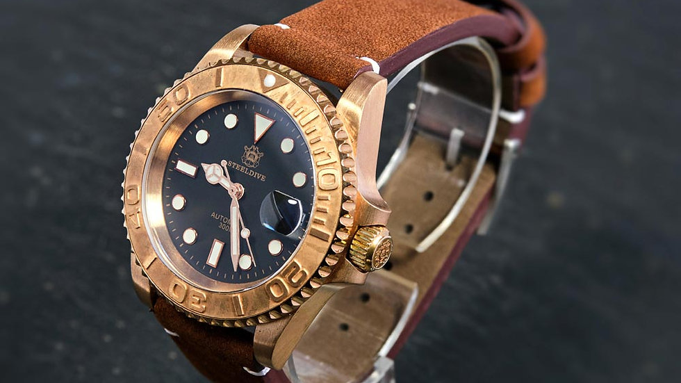 """STEELDIVE SD1953S """"Bronze Yachtmaster"""" Automatic 200m Diver Watch"""