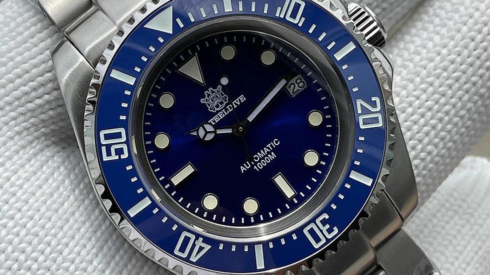 "STEELDIVE SD1964 ""Blue Sea-Dweller"" Automatic 1000m Diver Watch"