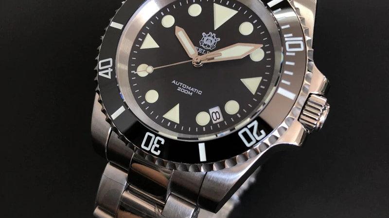 """STEELDIVE SD1954G """"Seamariner"""" Automatic 200m Diver Watch"""