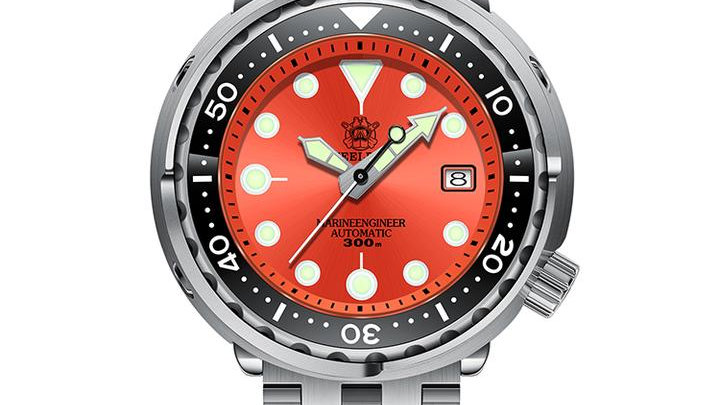 "STEELDIVE SD1975 ""Orange Tuna"" Automatic 300m Diver Watch"
