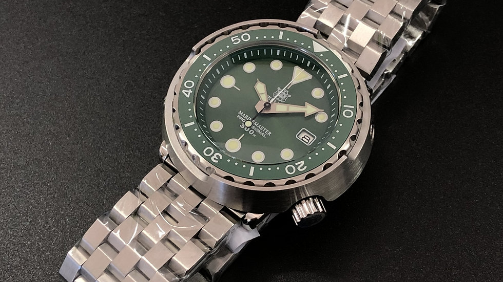 "STEELDIVE SD1975 ""Green Tuna"" Automatic 300m Diver Watch"