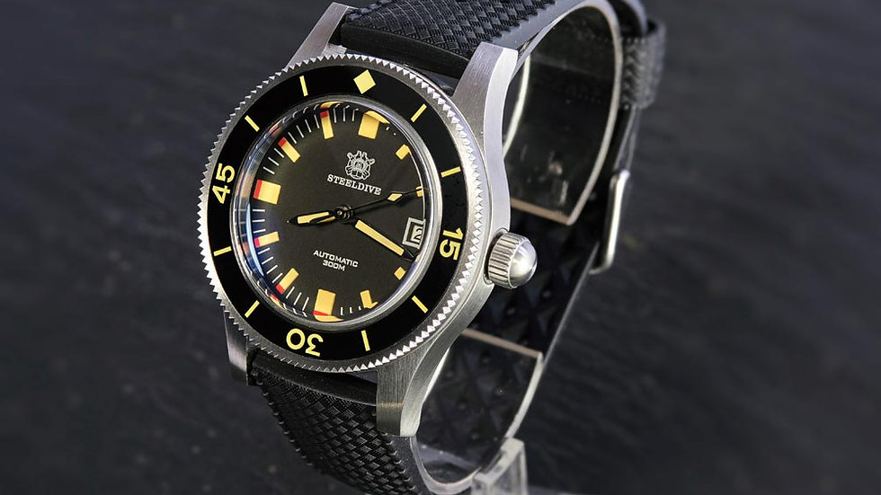 """STEELDIVE SD1952T""""Fifty Fathoms"""" Automatic 300m Diver Watch"""