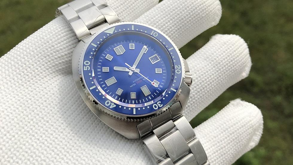 "STEELDIVE SD1970 ""Blue Turtle"" **STERILE VERSION**  Automatic 200m Diver Watch"