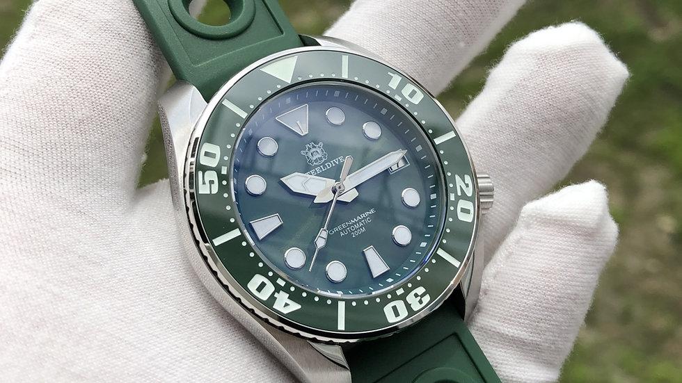 "STEELDIVE SD1971 ""Green Sumo"" Automatic 200m Diver Watch"