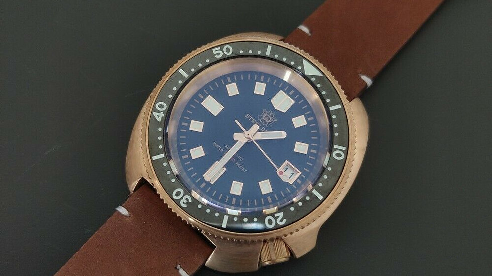 "STEELDIVE SD1970 ""Turtle"" Bronze Automatic 200m Diver Watch"