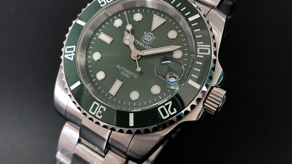 "STEELDIVE SD1953 ""Submariner Hulk"" Automatic 200m Diver Watch"
