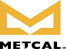 Large Metcal Logo Vertical Yellow and Bl