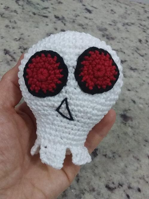 Amigurumi Skull Mascot Rock Pie Rojo