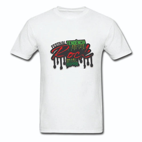 Camiseta Branca Estampa FTRBR (Na Busca)