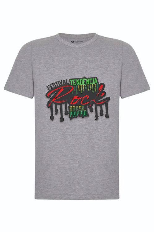 Camiseta Cinza Estampa FTRBR (Na Busca)
