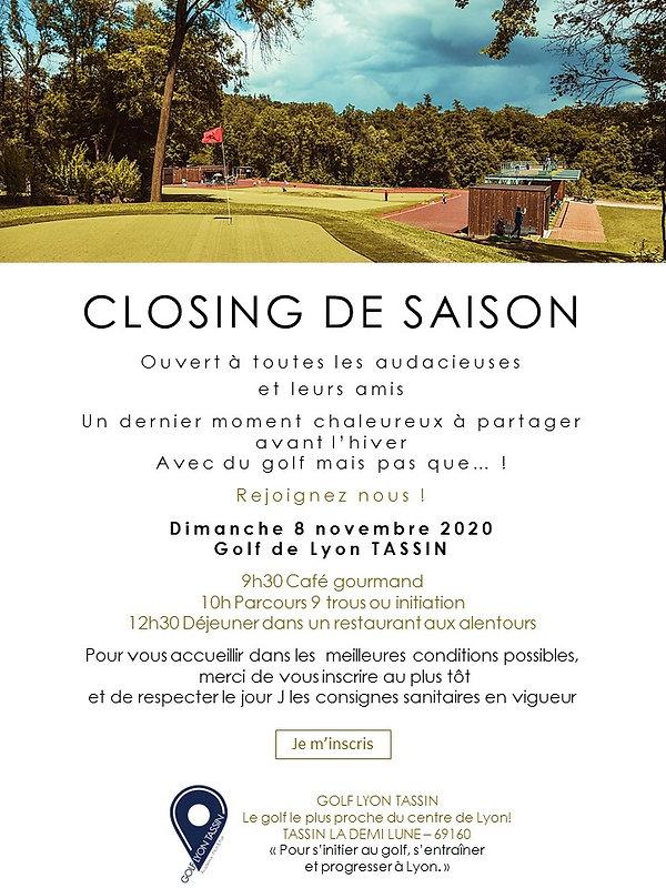 Invitation Closing de saison Les audacie