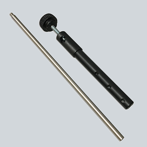 Clamp assembly with support rod and clamps for securing thermometers/probes