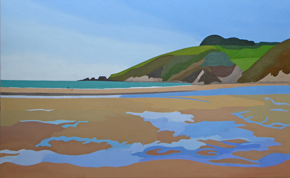 Erme Mouth at Low Tide 65 x 40 cm