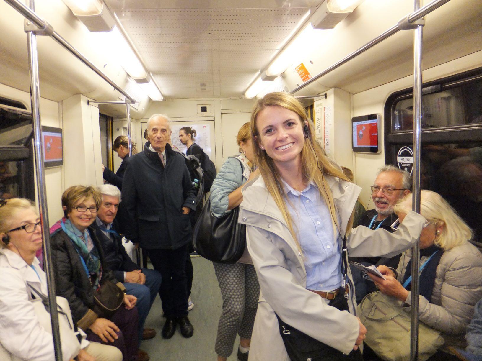 Lauren in Moscow Metro