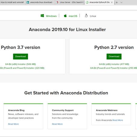 Anaconda installation in server