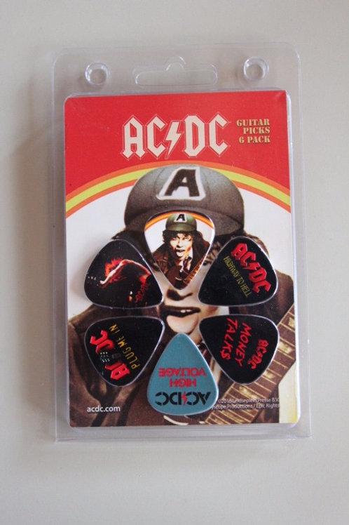 AC/DC Official Licensed Picks 6Pcs. Set 2