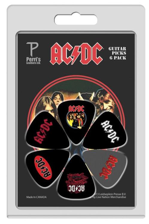 AC/DC official Licensed Picks 6Pcs. Set 1