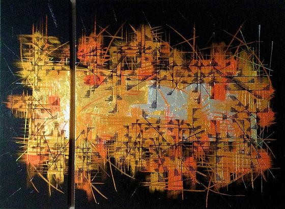 tableau art contemporain design decoration