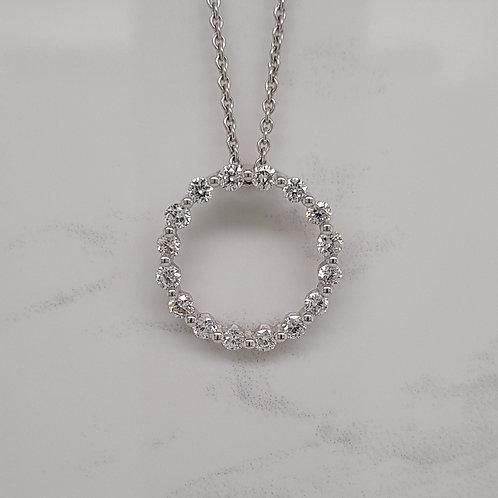 Cecile white gold diamond circle pendant in Melbourne