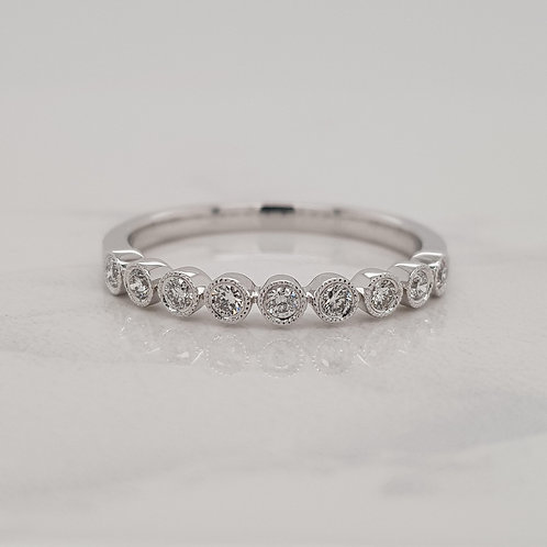 Ellie round cut diamond circle stack wedding band eternity ring in Melbourne
