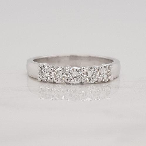 Emma white gold diamond set wedding band eternity stack ring in Melbourne