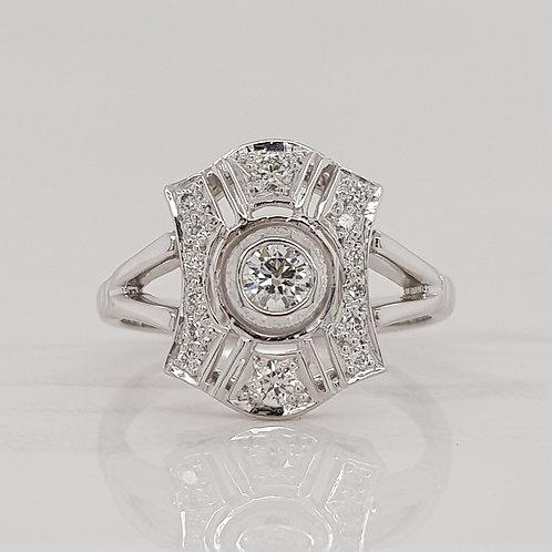 Marcela art deco diamond ring, custom made in Melbourne