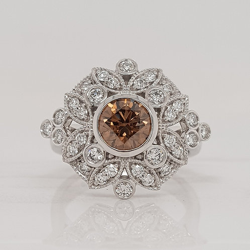 Bess champagne cognac diamond dress ring in Melbourne
