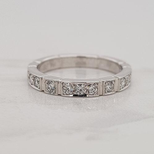 Eden white gold diamond set wedding stack ring eternity band in Melbourne