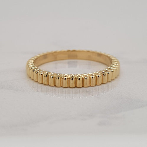 Mira yellow gold wedding band stack eternity ring in Melbourne