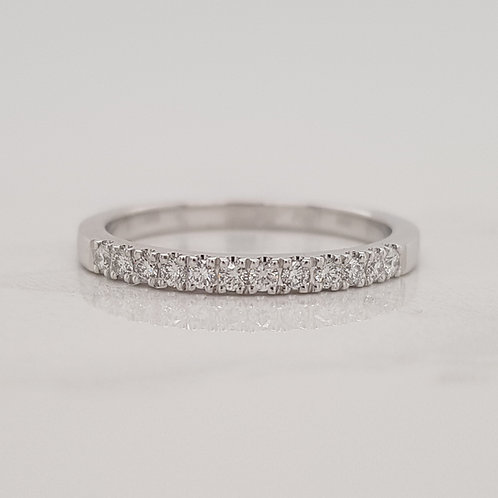 Isabella white gold diamond stack wedding ring eternity band in Melbourne