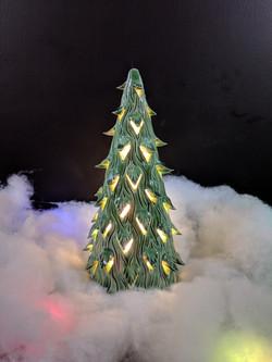 Green Tall Luminary Christmas Tree