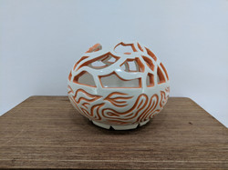 Pierced and Carved Vase