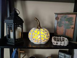 """Brain"" Pumpkin Luminary"
