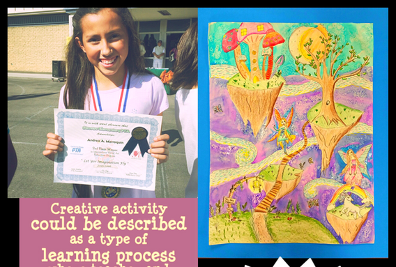 PTA, Reflections, winner, believe, dream, inspire, watercolor, cerritos library, art contest,