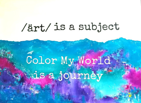 "At Color My World, we encourage ""Individual Interpretation & Creativity."" Enroll your child today!"